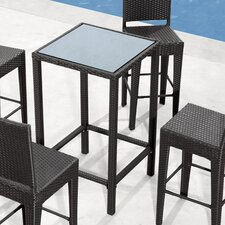 Anguilla Outdoor Pub Table in Dark Brown
