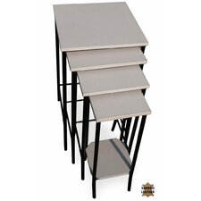 Waterfall 4 Piece Nesting Tables