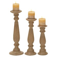Wood Candlestick (Set of 3)