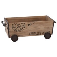 Wood Metal Cart