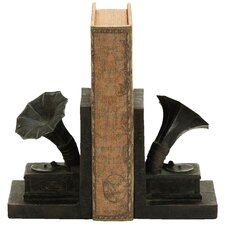 Old Look Gramophone Themed Book Ends (Set of 2)