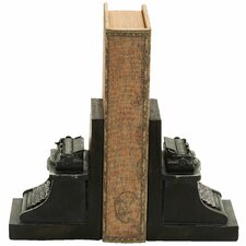<strong>Woodland Imports</strong> Old Look Typewriter Themed Book Ends (Set of 2)