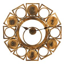 "<strong>Woodland Imports</strong> Oversized 32"" Geometric Circles and Squares Wall Clock"