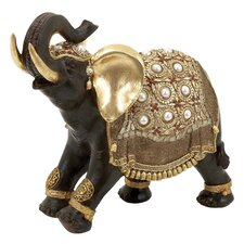 Polystone Indian Style Decorative Elephant Figurine
