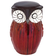 Owl Figure Ceramic Stool