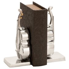 <strong>Woodland Imports</strong> Library Aluminum Book Ends (Set of 2)