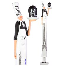 Styled Tall Fiberstone Chef Statue