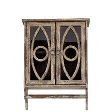 <strong>Woodland Imports</strong> Stunning and Compact Cabinet with Oval Pattern