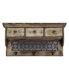 Modern and Striking Floral Designed Wall Chest