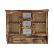 Antique Faded Net Styled Cabinet