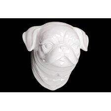 Elderly and Dog Head Figurine