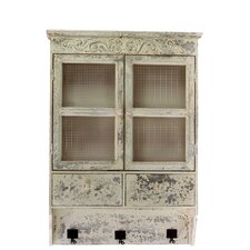 2 Drawer Traditional Style Wooden Alluring Cabinet