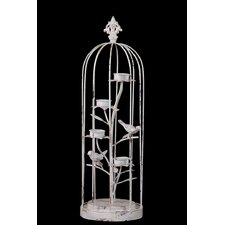 Antique Decor Bird Cage Statue