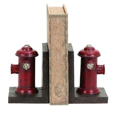 <strong>Woodland Imports</strong> Vintage Fire Hydrant Themed Book Ends (Set of 2)