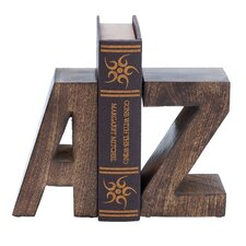 <strong>Woodland Imports</strong> Wood Book Ends (Set of 2)
