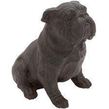 Polystone Sitting Bulldog Garden Statue