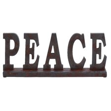 "Table Top ""Peace"" Statue"