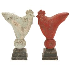 Simple Rooster Assorted Statue (Set of 2)