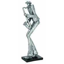 Décor Sax Musician Statue