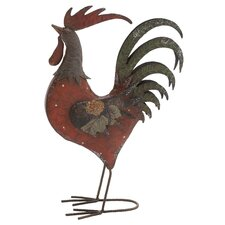 Metal Ornate Tuscan Rooster Statue