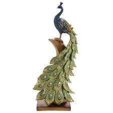 Irish Styled Peacock Décor Statue