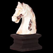 Antique Horse Head Stand Bust