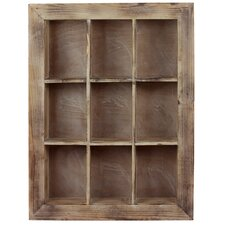 Manhattan's Classic 9 Sectioned Wooden Shelf