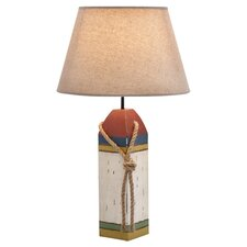 "24"" H Coastal Wooden Buoy Table Lamp"