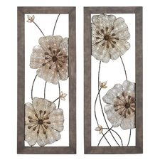 2 Piece Victorian-Themed Assorted Floral Wall Décor Set