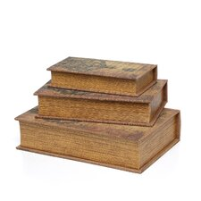 Library Wood Storage Book (Set of 3)