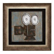 Vintage Camera Themed Framed Painting Print