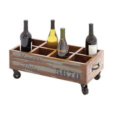 The Joyful 8 Bottle Tabletop Wine Trolley