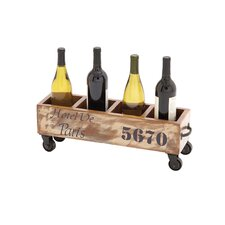 The Jolly 8 Bottle Tabletop Wine Trolley