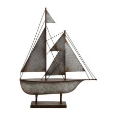 Contemporary Styled Metal Sailboat