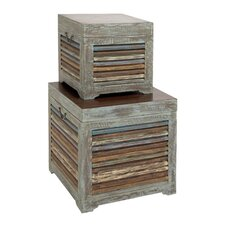 The 2 Piece Gems Wood Trunk Set