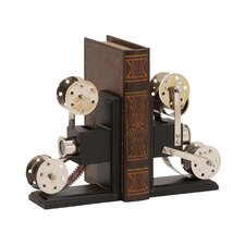 The Cinema Wood Metal Book Ends (Set of 2)
