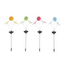 The Cute Metal Solar Garden Stake (Set of 4)