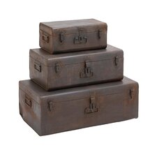3 Piece Metal Copper Case Set