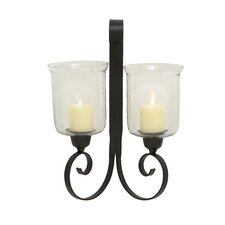 Elegant Styled Metal Glass Sconce