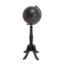 The Brooding Wood Metal Floor Globe