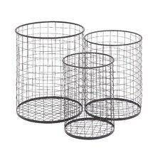3 Piece Handy Metal Container Basket Set