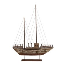 Wonderful Wood Metal Model Boat