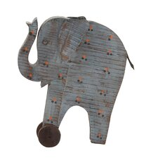Artistic Styled Exclusive Wood Painted Elephant Statue