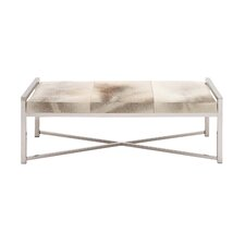 The Heartthrob Metal Leather Bedroom Bench