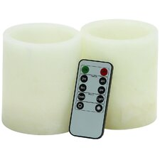 3 Piece LED Flameless Candle Set