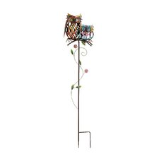 Attractive Metal Owl Garden Stake