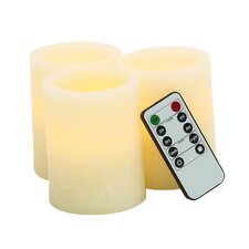 3 Piece Flameless Candle Set