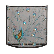 Bird Metal Fireplace Screen
