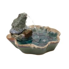 Ceramic Frog Fountain