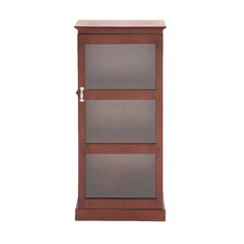 Polished Wood Glass Cabinet